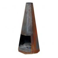 Contemporary Hexagonal Chiminea - 115cm