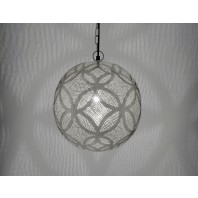 Contemporary Pin Hole Flower Hanging Ball Light