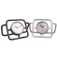 """Pritchard Hill"" Contemporary Tubular Style Desk Clock"
