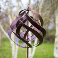 Copper Effect Spiral Wind Spinner