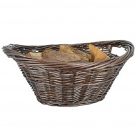Cradle Shaped Wicker Log Basket
