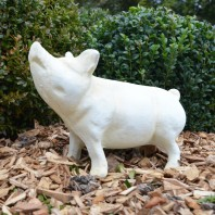 Cream Standing Pig Ornament