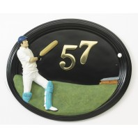 """""""The Oval"""" Hand Painted Cricketer House Sign"""