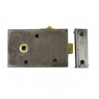 """Cromwell"" Cast Iron Rim Lock with Draw Bolt - Left Hand Door"