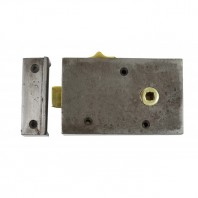 """Cromwell"" Cast Iron Rim Lock with Draw Bolt - Right Hand Door"