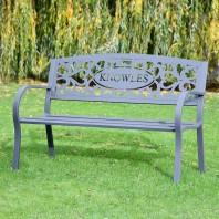 Family Name Iron Bench
