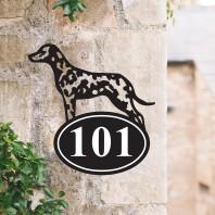 Dalmatian Iron House Number Sign