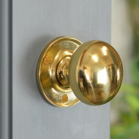 50mm Round Knob Polished Brass