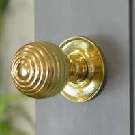 Brass Beehive Door Knobs