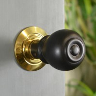 Round Ebony Door Knobs