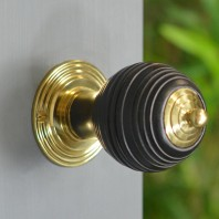 Door Knobs In Fine Hand Turned Ebony Wood Pevonsey