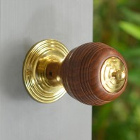 Natural Hardwood Door Knob In Fine Hand Turned Wood Pevonsey