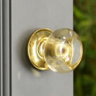 Clear Glass Rim knob