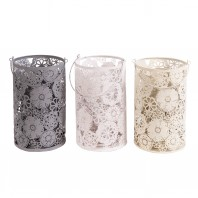 """Cherry Tree Blossom"" Set Of 3 Candle Holders"