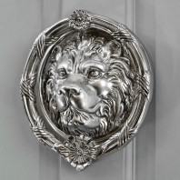 'Sandringham' Bright Chrome Lion Knocker