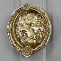 'Sandringham' Polished Brass Lion Knocker