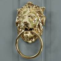 Polished Brass 'Ascot' Lion Door Knocker