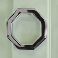 Bright Chrome Octagonal Door Knocker