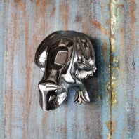 Bright Chrome Frog Door Knocker