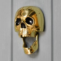 Polished Brass Skull Door Knocker