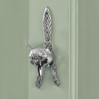 Mr Todd Fox Head Door Knocker in Chrome