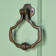 """Cambourne House""  Contemporary Antique Copper Door Knocker"