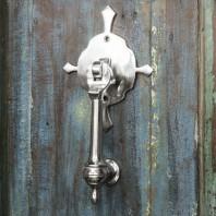"""Turnbrook Park"" Bright Chrome Door Knocker"