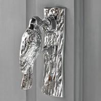 Bright Chrome Woodpecker Door Knocker