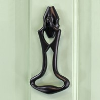 Black Iron Effect Art Deco Door Knocker 178mm