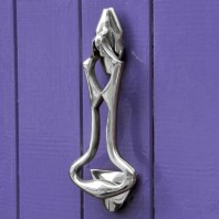 Bright Chrome Art Deco Door Knocker