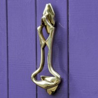 Polished Brass Art Deco Door Knocker