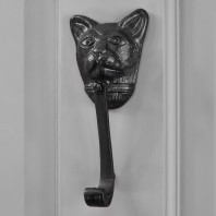 Black Cat Head Door Knocker