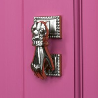 Bright Chrome Hand Door Knocker