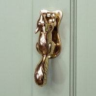 Polished Solid Brass Squirrel Door Knocker