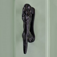 Black Iron Running Fox Door Knocker 140mm