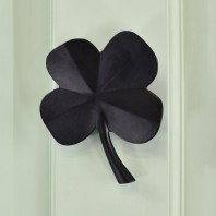 Four Leaf Clover Door Knocker In Black