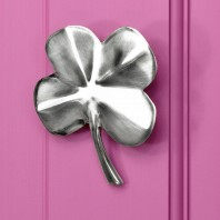 4 Leaf Clover Door Knocker In Bright Chrome