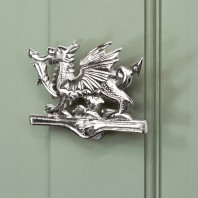 Bright Chrome Welsh Dragon Door Knocker