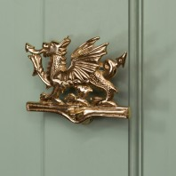 Polished Brass Dragon Door Knocker