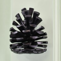 Black Pine Cone Door Knocker