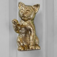 Polished Brass Kitten Door Knocker