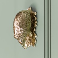Polished Brass Hedgehog Door Knocker