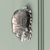 Bright Chrome Hedgehog Door Knocker