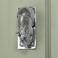 Bright Chrome Dormouse Door Knocker