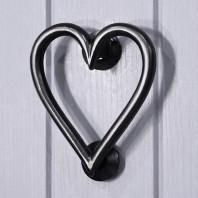 Black Iron Heart Door Knocker