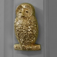 Polished Brass Owl Door Knocker