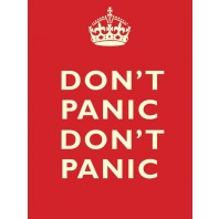 "Traditional ""Don't Panic"" Metal Wall Sign"