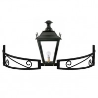 Black Dorchester Bow Bracket Light