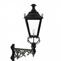 Black Dorchester Wall Lantern on Corner Bracket 84 x 37cm