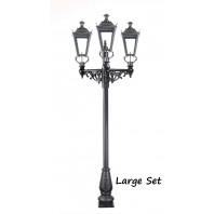 Triple Headed Dorchester Lamp Post & Lantern Set